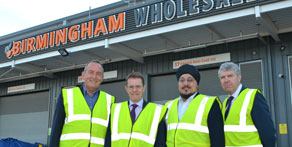 Keith Simpson, Andy Street, Jason Wouhra and Rob Nixon at Birmingham Wholesale Market.