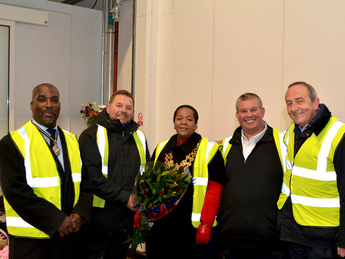 The Lord Mayor of Birmingham with her Husband and Birmingham Wholesale Market management and traders