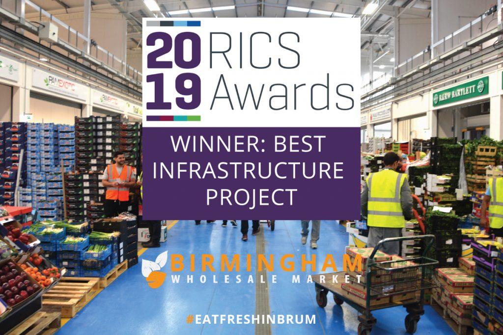 2019 RICS Awards Winner - Best Infrastructure Project - Birmingham Wholesale Market