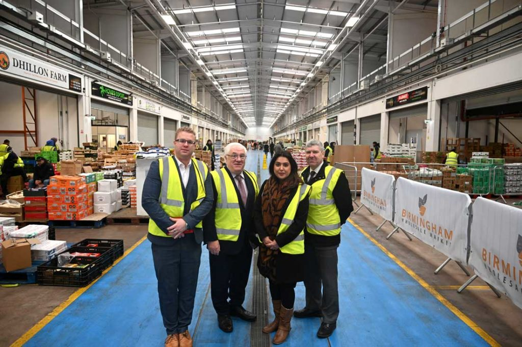 Head of Asian Business at the Chamber of Commerce visits the Birmingham Wholesale Market